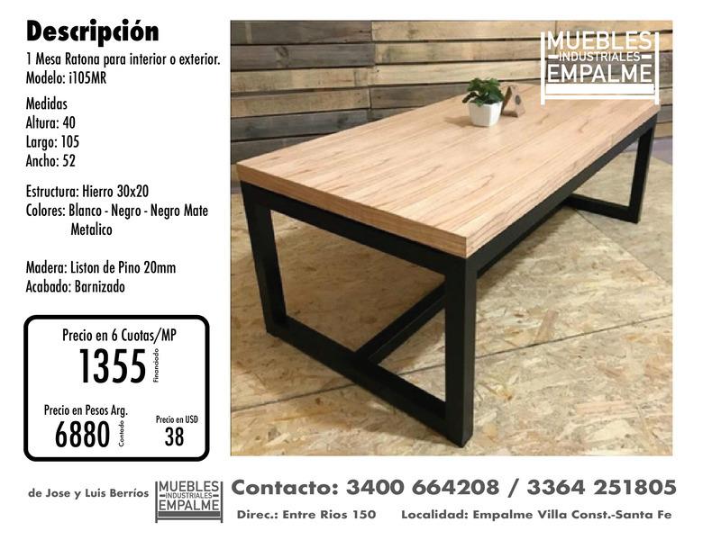 Mesa Ratona estilo industrial - Directo de fabrica - 1