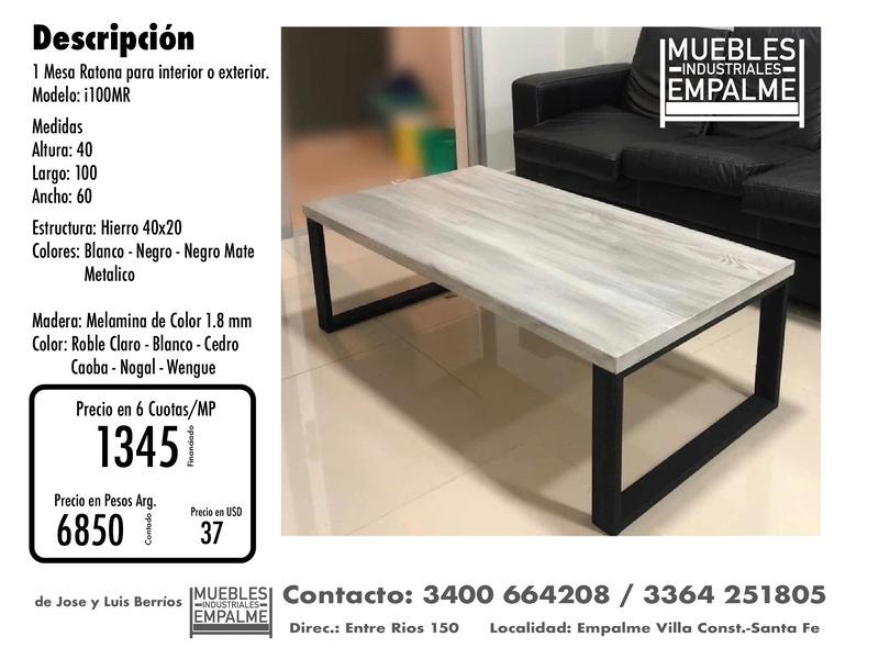 Mesa Ratona estilo industrial - Directo de fabrica - 2