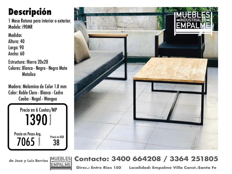 Mesa Ratona estilo industrial - Directo de fabrica - 3
