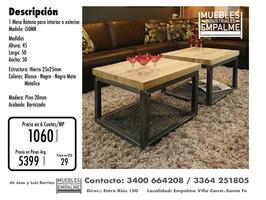 Mesa Ratona estilo industrial - Directo de fabrica - Imagen 4