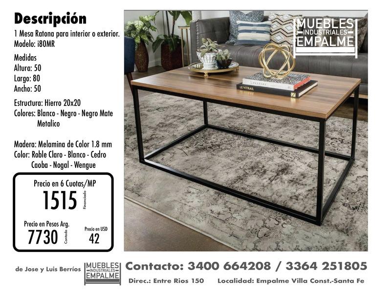 Mesa Ratona estilo industrial - Directo de fabrica - 5