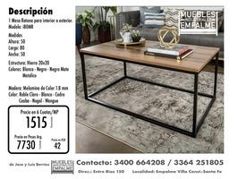 Mesa Ratona estilo industrial - Directo de fabrica - Imagen 5
