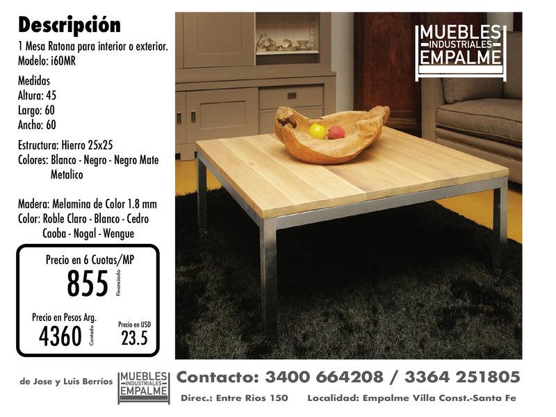 Mesa Ratona estilo industrial - Directo de fabrica - 6