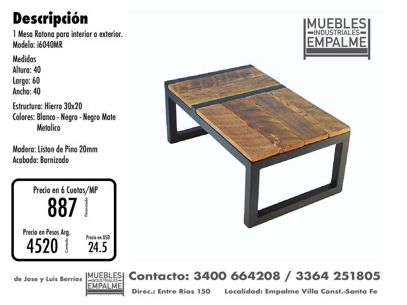 Mesa Ratona estilo industrial - Directo de fabrica - 7
