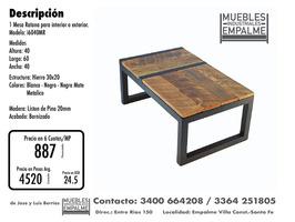 Mesa Ratona estilo industrial - Directo de fabrica - Imagen 7