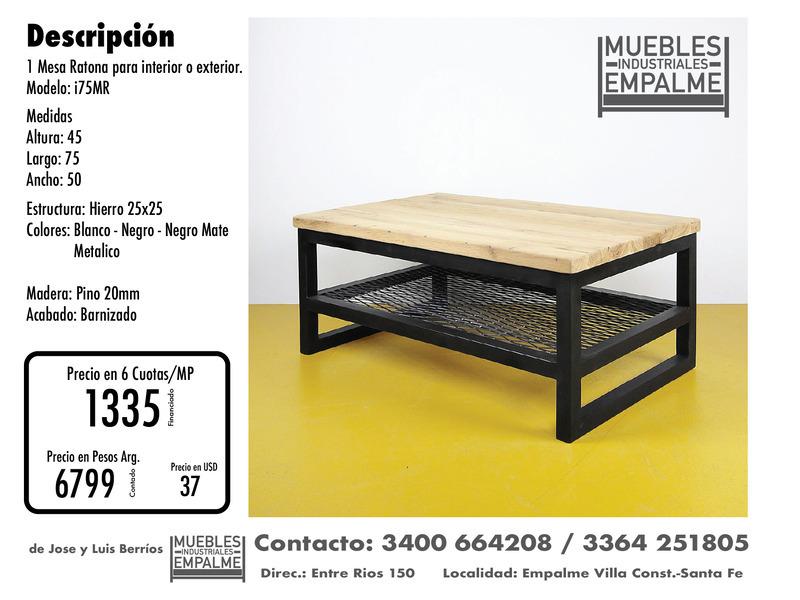 Mesa Ratona estilo industrial - Directo de fabrica - 8