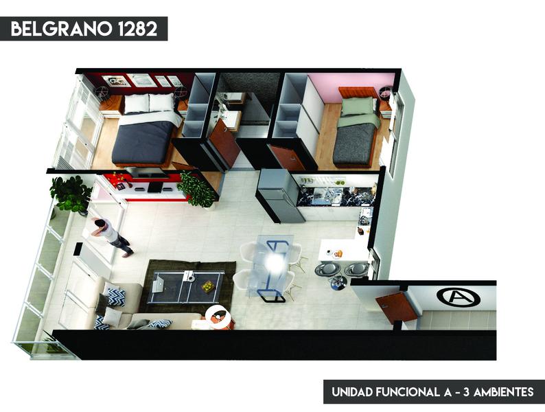 3 AMB AL FRENTE - EN POZO - 69m2 - 4