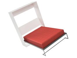Cama rebatible vertical 2 plazas. - Imagen 2