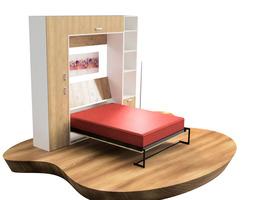 Cama rebatible vertical 2 plazas. - Imagen 4