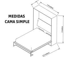 Cama rebatible vertical 2 plazas. - Imagen 5