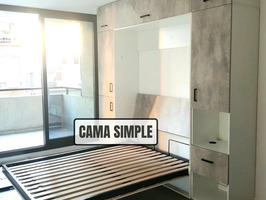 Cama rebatible vertical 2 plazas. - Imagen 6