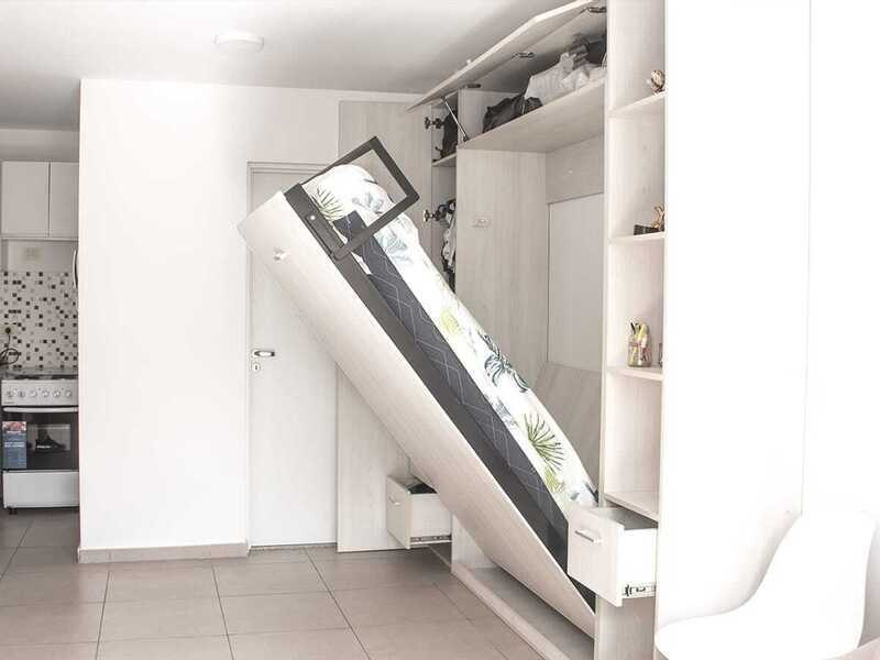 Cama rebatible vertical 2 plazas. - 9