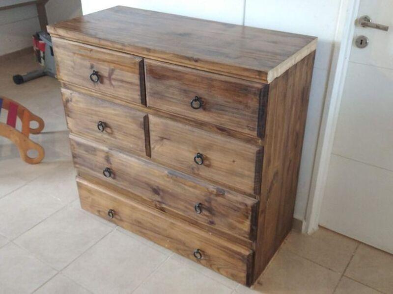 Cómoda aparador madera maciza (pino). - 1