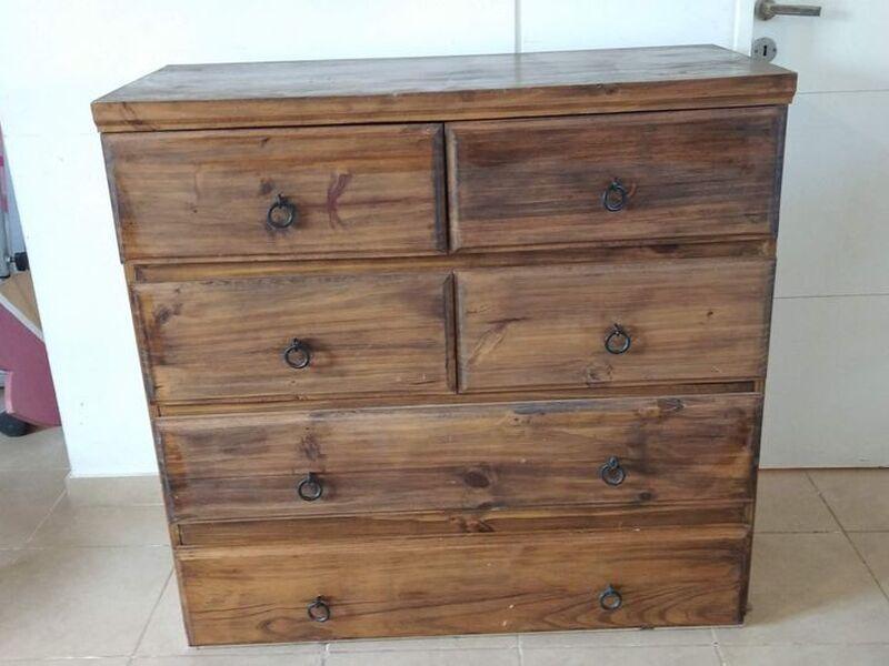 Cómoda aparador madera maciza (pino). - 2