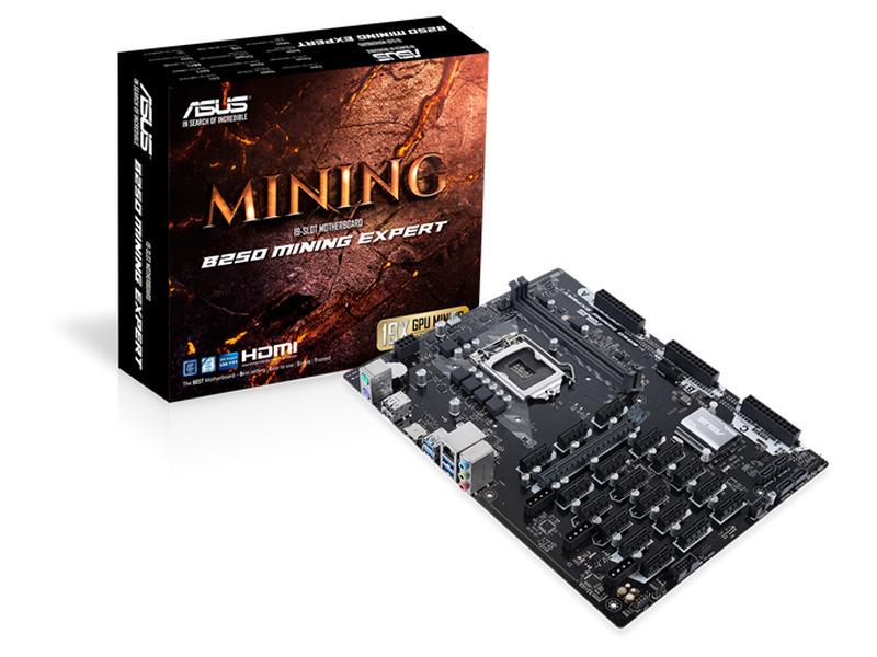 Motherboard Asus B250 Mining Expert - 19 GPU - 1