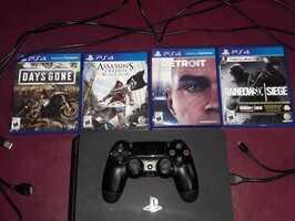 PS4 Slim 1TB, 1 Joystick y 4 juegos - Imagen 2