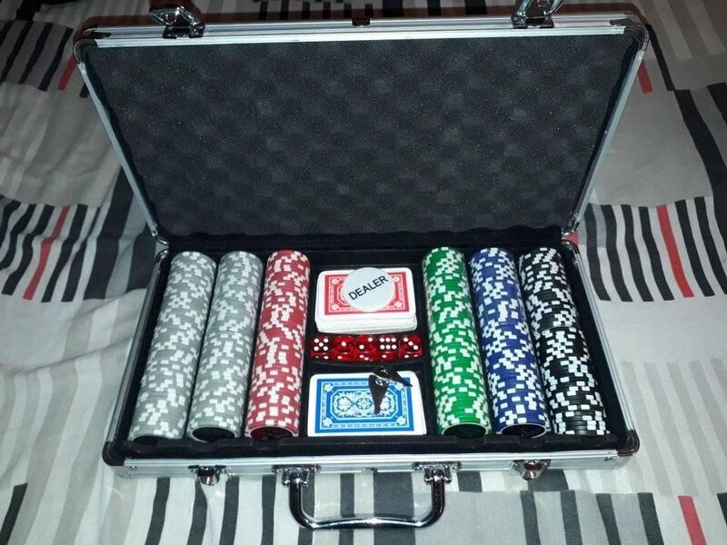 Poker 300 Fichas 11gr Numeradas Malet Alum dados - 1